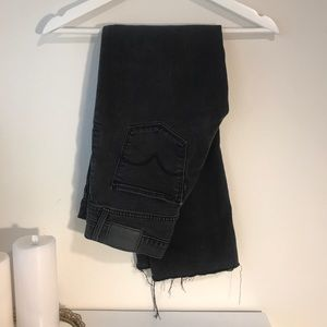 Black Levi's raw hem 501 jeans